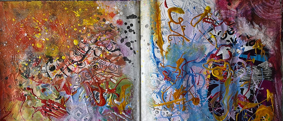 Arts plastiques : art-journal de Web Créatrice. Abstrait