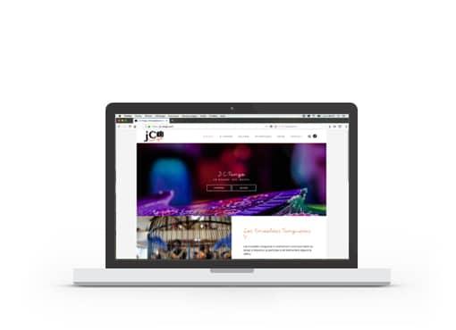 Page d'accueil du site web de J-C Tango