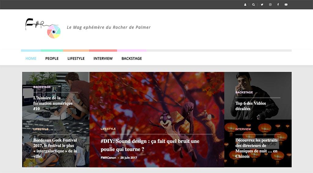 FM'r site web réalisé par les stagiaires de la formation numérique du Rocher de Palmer