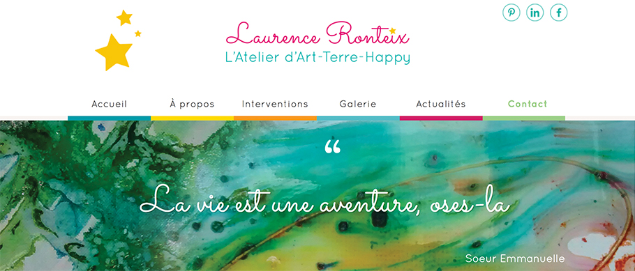 Page contact site Laurence Ronteix