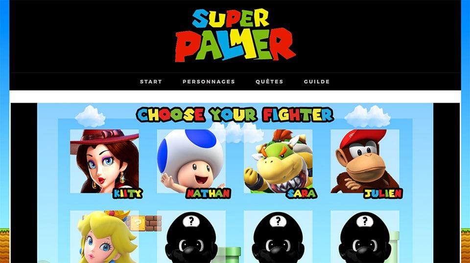 Super Palmer, le site