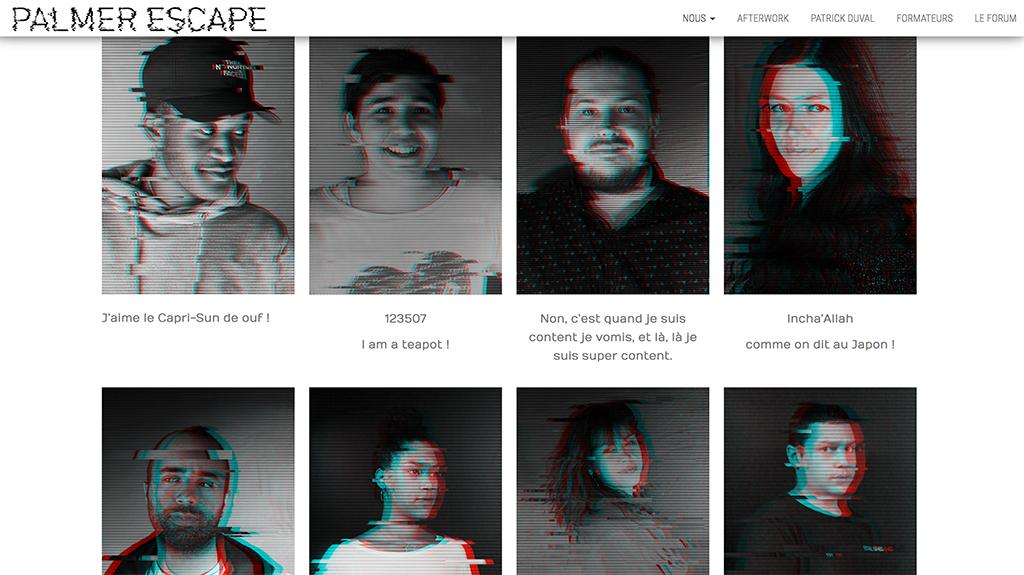"""Palmer Escape page """"nous"""""""