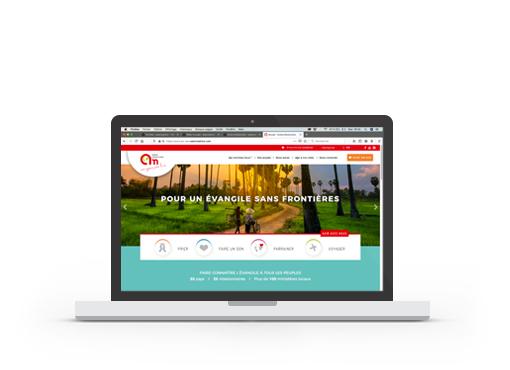 Création du site web Action Missionnaire