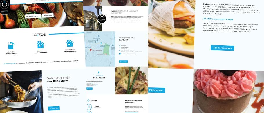 Webdesign du site web resto-starter.com