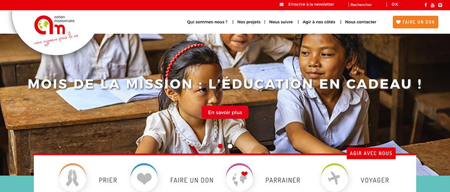 Site web de l'Action Missionnaire
