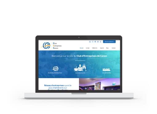 Site web du club d'entreprises de Cenon