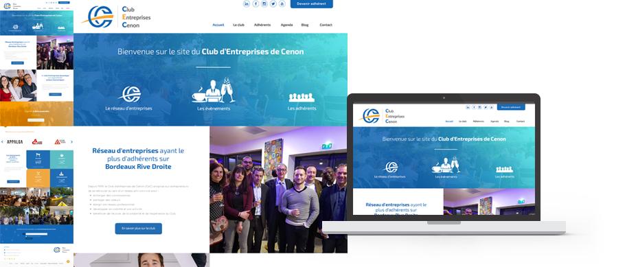 Webdesign du site web du Club d'entreprises de Cenon