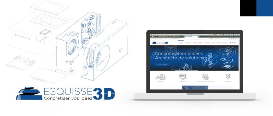 Logo et site web d'Esquisse 3D