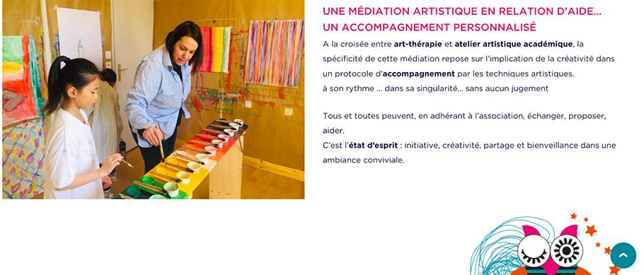 Site web de la Chouette Zebree page association