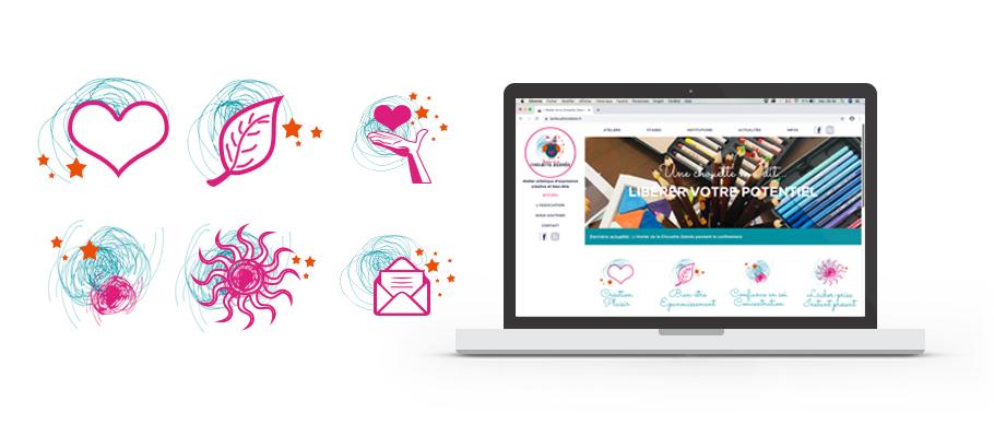 WebDesign du site web de la Chouette Zebrée, Atelier artistique à Bordeaux