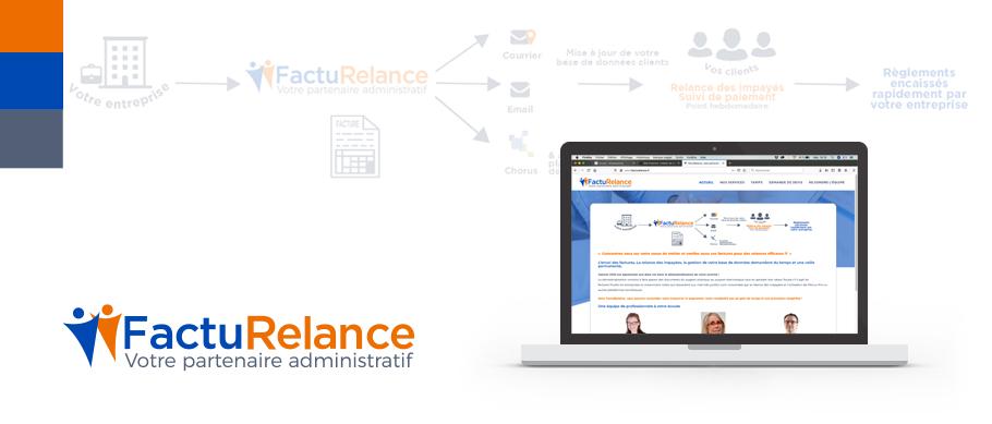 Création du logo et du site web de FactuRelance