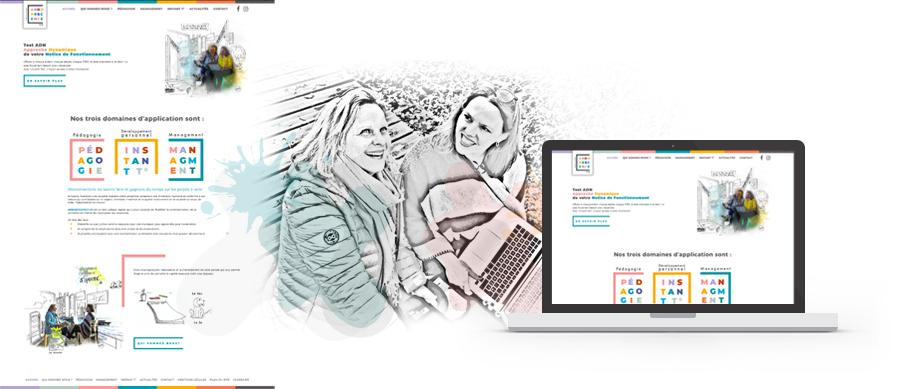 WebDesign et créations visuelles pour le site web d'Arborescence (Arborescence.vo)