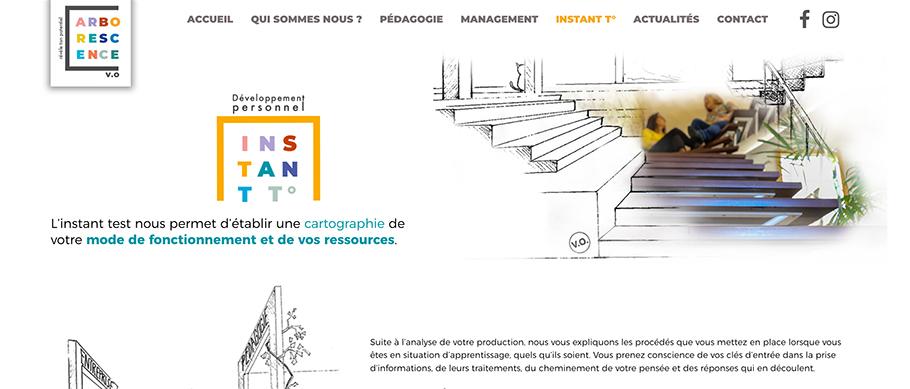 Page instant Test° du site web d'Arborescence (Arborescence.vo)