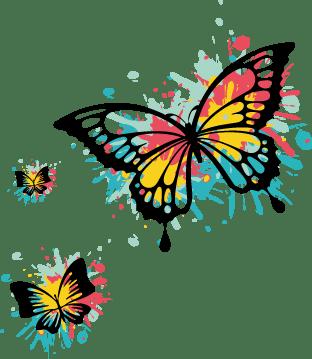 Papillons colorées : idée de chrysalide