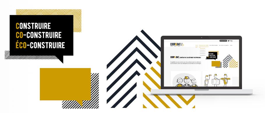 Webdesign du site web de Coopetbat - Page d'accueil