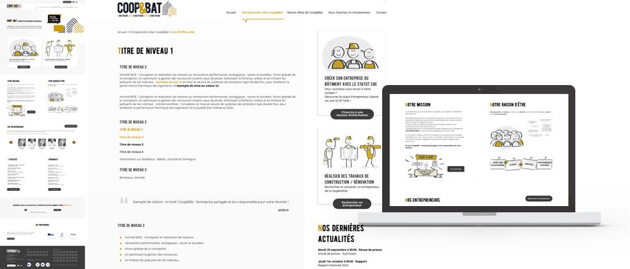 Webdesign du site web de Coopetbat