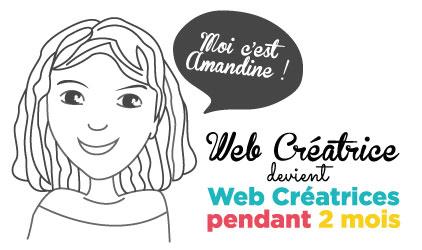 Web Créatrice devient Web Créatrices pendant 2 mois, je vous présente Amandine