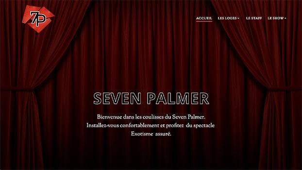 Seven Palmer, le site web